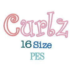 Curlz Applique Font 16 Sizes PES Format,Curlz Applique Embroidery Font,Embroidery Design Instant Download by MonogramEmbroidery on Etsy https://www.etsy.com/listing/289107963/curlz-applique-font-16-sizes-pes