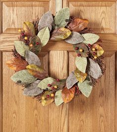 Fall For All Berry & Magnolia Leaves Wreath