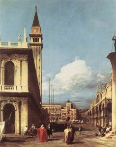 The Piazzetta, Looking toward the Clock Tower by CANALETTO #art