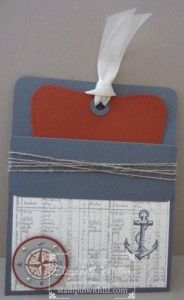 Stampin Up the Open Sea stamp set masculine pocket fold card