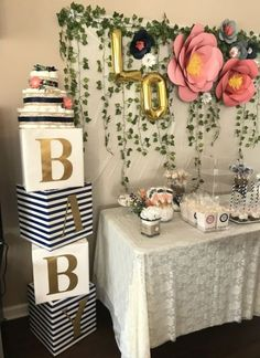BABY blocks and large paper flower DIY 2019 Baby Shower floral decor. BABY blocks and large paper flower DIY The post Baby Shower floral decor. BABY blocks and large paper flower DIY 2019 appeared first on Baby Shower Diy. Baby Shower Simple, Baby Shower Floral, Idee Baby Shower, Baby Shower Flowers, Baby Shower Gifts, Baby Shower Themes Neutral, Themes For Baby Showers, Babby Shower Ideas, Safari Theme Baby Shower