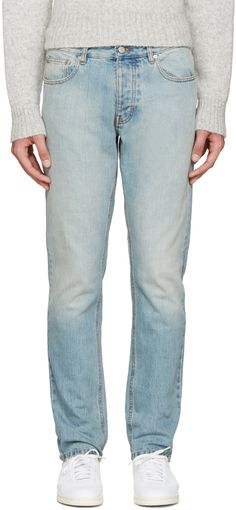 AMI Alexandre Mattiussi - Blue Light Wash Jeans