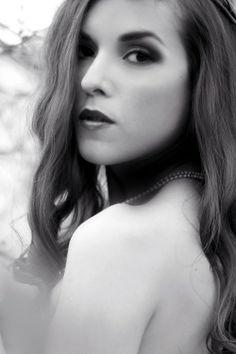 Black and white portrait by Paula Gecan Photography