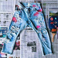 Custom jeans.