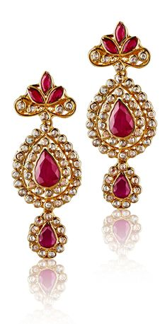 #red #earrings #diwali #liali #dubai #jewellery
