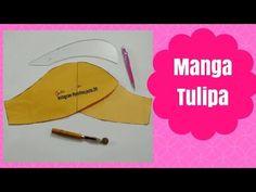 Como modelar e costurar manga tulipa - YouTube Kurti Sleeves Design, Sewing Shirts, Do Video, Sleeve Designs, Pattern Fashion, Dress Patterns, Dame, Youtube, Margarita