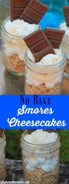 These delicious smores cheesecakes are perfect individual serving desserts! They can be made in around 10 minutes and are no bake!