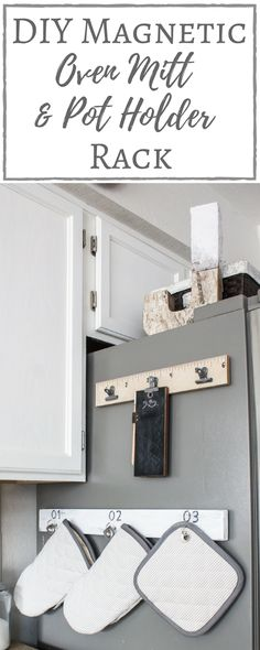 Simply Beautiful By Angela: DIY Magnetic Oven Mitt and Pot Holder Rack