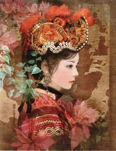 Women dress and accessories of China 56 ethnic groups, women dresses and accessories of China 55 minorities