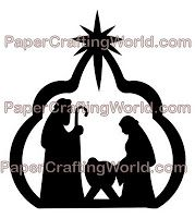 Nativity Silhouette Templates | My Paper Crafting.com **: Day 18: No Room at the Inn