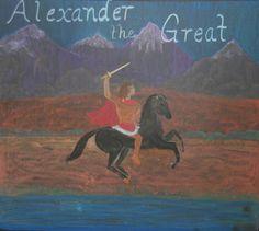 Waldorf ~ 5th grade ~ Ancient Greece ~ Alexander and Bucephalus ~ chalkboard drawing