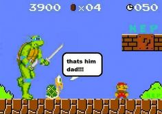 Koopa and Ninja Turtle vs. Mario