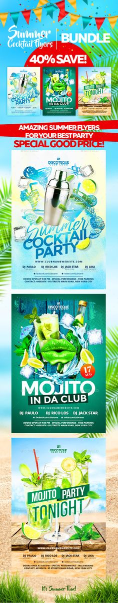 Summer Flyer Templates PSD. Download here: https://graphicriver.net/item/summer-flyers/17201018?ref=ksioks