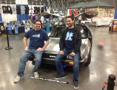 Ready Player One author Ernest Cline and Ready Player One audiobook narrator Wil Wheaton at Austin Comic Con.