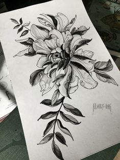 Peony with ancient pattern tattoo sketch tattoo designs ideas männer männer ideen old school quotes sketches Rose Tattoos, Flower Tattoos, Body Art Tattoos, Key Tattoos, Butterfly Tattoos, Skull Tattoos, Black Tattoo Art, Black Tattoos, Arm Tattoo