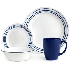 The Corelle Livingware 16-Piece Dinnerware Set will make an attractive addition to your dining table setting. It is not only ideal for everyday dining, but also for special occasions as well. It offers service for four and includes four each of the following: dinner plates, luncheon plates, bread and butter plates and stoneware mugs. This ruby red dinnerware set has a modern, fresh geometric pattern that is aesthetically pleasing and will not was *** Visit the image link more details.