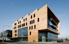 Diesel Benelux headquarters. Covered with red cedar shingles. Work of Dedato designers and architects in Amsterdam. www.dedato.com