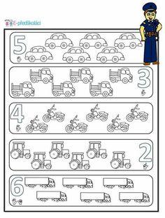 Transportation Worksheet, Transportation Theme, Kindergarten Math Worksheets, Worksheets For Kids, Free Preschool, Preschool Activities, Educational Activities, Lettering, English Activities For Kids