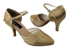Ladies Rhythm Salsa Competitive Dancer CD6033M Tan Satin 275 6M *** Click image for more details.(This is an Amazon affiliate link and I receive a commission for the sales)