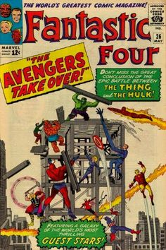 It takes two teams to handle a whopper! It's a Marvel two group in one title when Thing v. Hulk requires a dawn of more than mere justice.