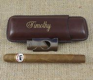 Cigar Case with Cutter Personalized - Groomsmen Gift - Best Man - Engraved Gifts for Men, Grand Father, Retirement, Uncle Gift, Golfer Gift Personalized Gifts For Men, Engraved Gifts, Handmade Gifts, Leather Cigar Case, 3rd Wedding Anniversary, Cigar Cases, Uncle Gifts, Good Cigars, Gifts For Golfers