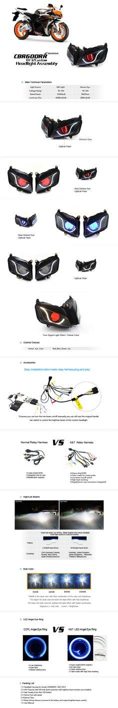 Honda CBR600RR HID Projectors Headlight Assembly 2007-2012