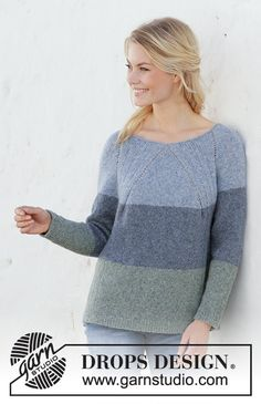 Ravelry: Sweet Nothing Jumper pattern by DROPS design Jumper Patterns, Poncho Knitting Patterns, Easy Knitting, Knitting Designs, Knit Patterns, Drops Design, Handgestrickte Pullover, Raglan, Jeans Claro