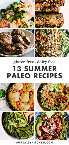 13 Easy and Delicious Summer Paleo Recipes 13 Easy and Delicious Summer Paleo Recipes Our Salty Kitchen oursaltykitchen Clean Eating There is no easier time to enjoy nbsp hellip Healthy Summer Recipes, Paleo Recipes Easy, Primal Recipes, Whole Food Recipes, Delicious Recipes, Healthy Food, Paleo Meal Prep, Paleo Dinner, Dinner Meal