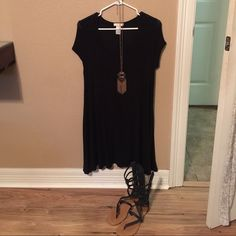 T shirt dress Cute black t shirt dress! Loose fitting and very comfy! Great condition! Dresses