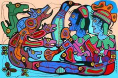 """We Conjure Our Own Spirit"" - Norval Morrisseau Native American Artists, Canadian Artists, Native Canadian, Woodland Art, Haida Art, Inuit Art, Art Database, Indigenous Art, Native Art"
