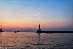 Lighthouse in Chania #Crete #Chania #Greece #seagulls