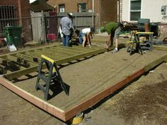 How to Build a Backyard Deck... Cuz u never know when u will need to build a deck...