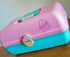 You were not hot if you didn't have a Caboodle...remember this? What color did you have? Mine? PINK of course :)