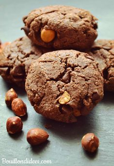 Cookies double choco & noisettes (sans GLO - sans gluten, sans lait - PLV ou Lactose, sans oeuf)