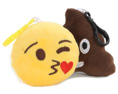 "78158BOXTI 4"" Assorted Plush Emoji Keychain"