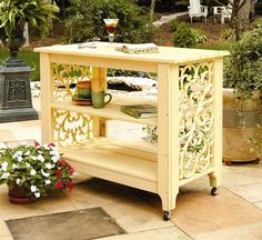 serving table/island..so cute for the deck!
