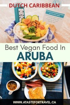 The top vegan-friendly restaurants in Aruba. These are the very best places for vegan food and plant-based dining on the island. Vegan Vegetarian, Vegetarian Recipes, Vegan Food, Veggie Fries, Vegan Restaurants, Vegan Appetizers, Beach Bars, Best Places To Eat, Vegan Friendly