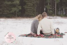 Couples photography in the snow!   North London Portrait Photographer
