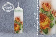 Lavenderia - decoupage i inne: Świeca w róże