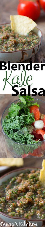 fresh salsa blender kale salsa