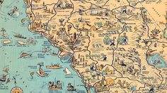Don't ditch your GPS for this witty illustrated map by the late, LA-based graphic artist Lowell E. Jones. But it has plenty of stories to tell, and you can still put it on your phone.