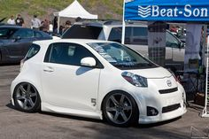 Scion IQ - Lowered White I wouldn't mind driving this haha