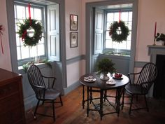 colonial christmas decorating | Thomas Leiper House - Colonial Christmas Open House - Wallingford PA ...
