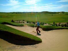Golf shot (bunker)  Henrik Ling @ The Dunes