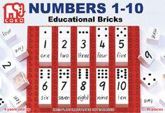 Coko Numbers 1-10 Educational Bricks