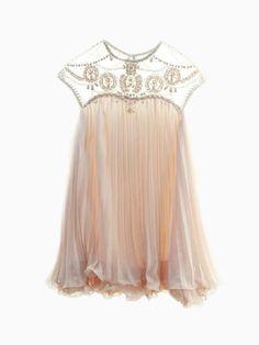 Swing Dress With Organza Yoke