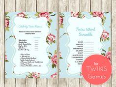 1Twins Word Scramble Game, Celebrity Twins Names, Twin boys, Twin Girls, Baby Words Scramble Game, Celebrity Baby Names, Twins Names, twn01