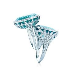 Tiffanys Turquoise Diamond Rings