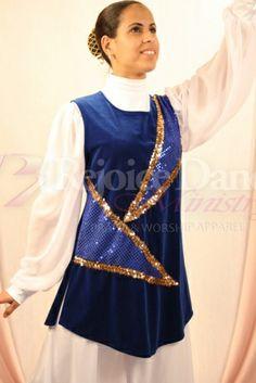 Velvet Tunic w/ Sequin Decoration - Praise & Worship Dance Wear