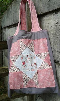 lienka97 / Šedo-ružová nákupná taška